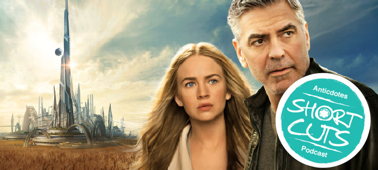 George Clooney and Brit Robertson in Tomorrowland