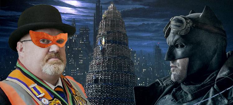 Anticdortes ep 35, Batman vs Orange Man by Gotham's biggest bonfire