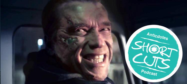 Arnold Schwarzenegger in Terminator Genisys, Anticdotes podcast